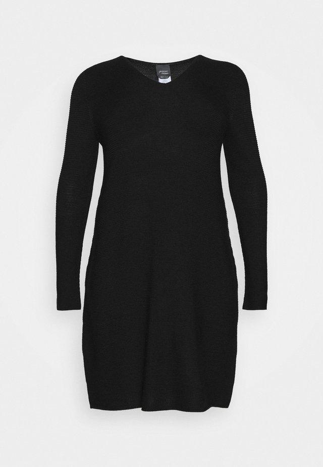 GARDENIA - Vestido de punto - black