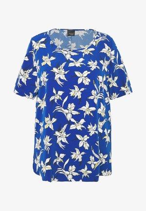 BARONE - T-shirt z nadrukiem - bluette