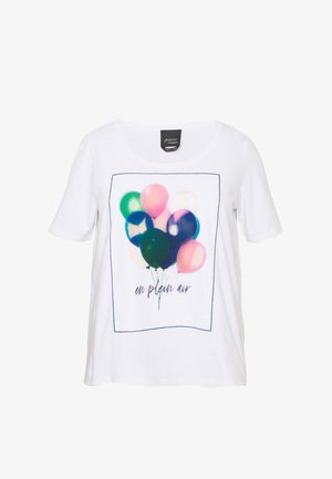 VALDO - T-shirt imprimé - bianco ottico