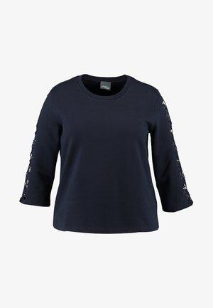 OMEGA TRIM - Sweatshirt - navy blue
