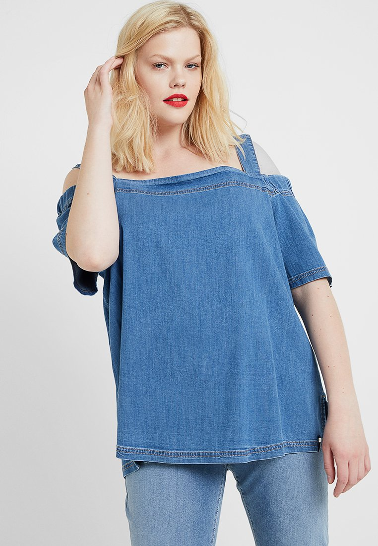 Persona by Marina Rinaldi - BASCO BLOUSE - Blouse - light-blue denim