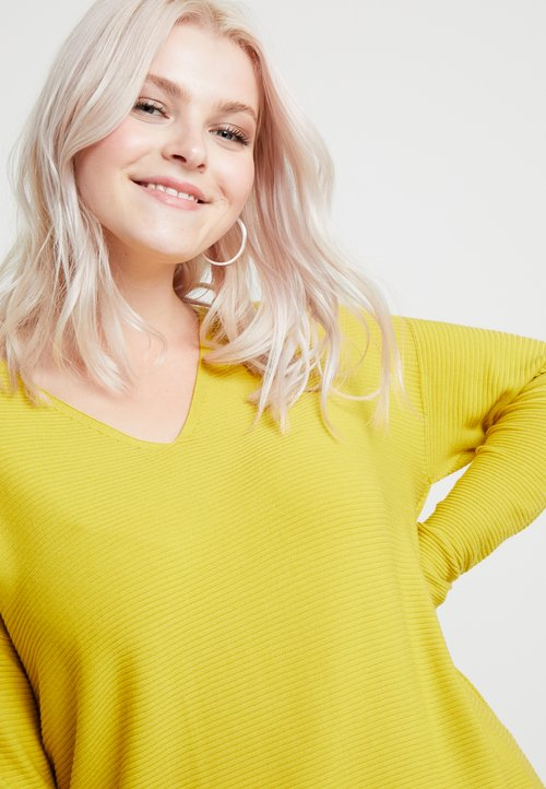 Persona by Marina Rinaldi AGRESTE - Sweter - yellow Odzież Damska PODP-VB9 tani