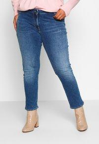Persona by Marina Rinaldi - ILARIA - Slim fit jeans - grigio scuro - 0