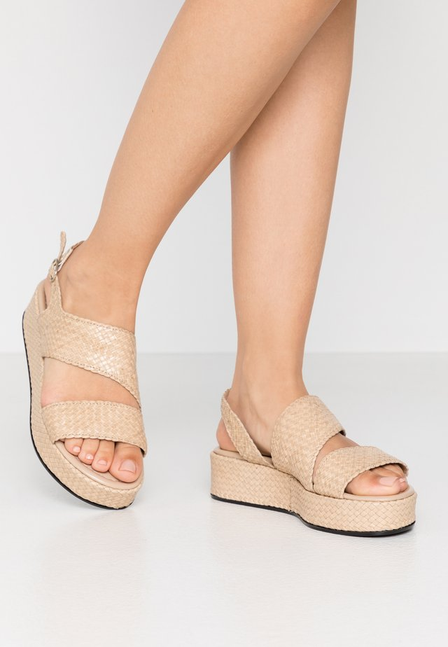 Plateausandalette - ivory/beige