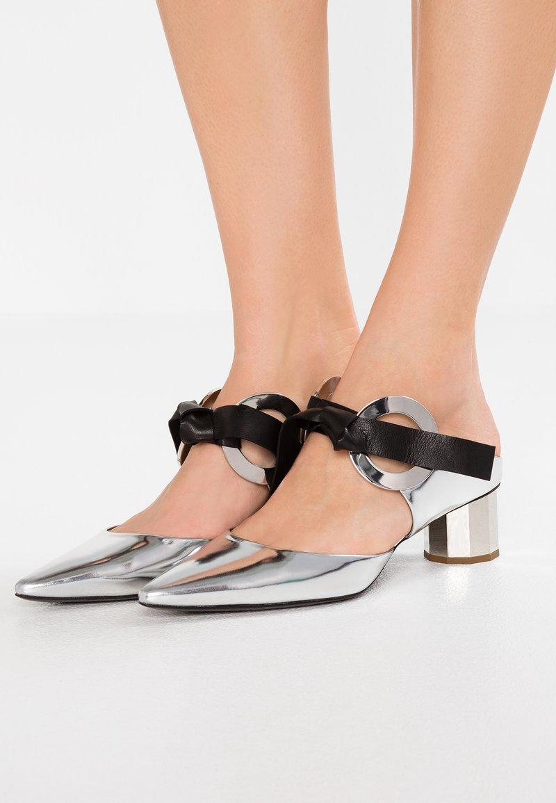 Proenza Schouler - Heeled mules - baltilux nero /silver