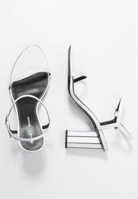 Proenza Schouler - High heeled sandals - real optic white/tacco black/white - 3