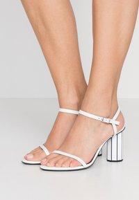 Proenza Schouler - High heeled sandals - real optic white/tacco black/white - 0