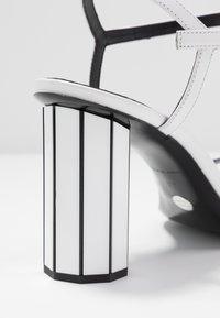 Proenza Schouler - High heeled sandals - real optic white/tacco black/white - 2