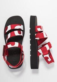 Proenza Schouler - Platform sandals - rosso/bianco - 3