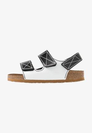 MILANO  - Sandaalit nilkkaremmillä - black/white