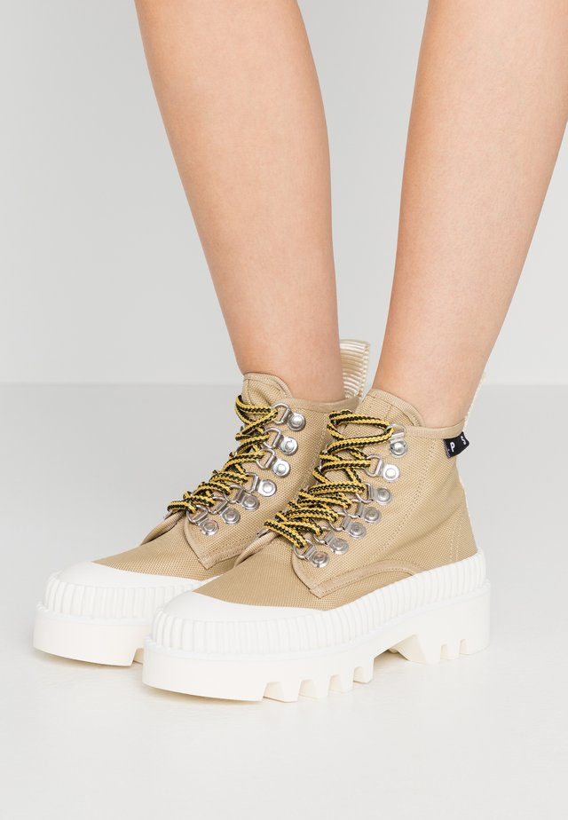 Ankle boots - beige/white