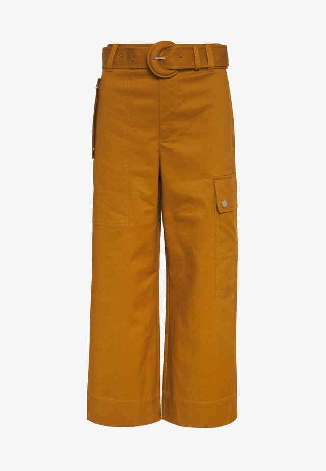 BELTED CARGO PANT - Cargo trousers - tobacco