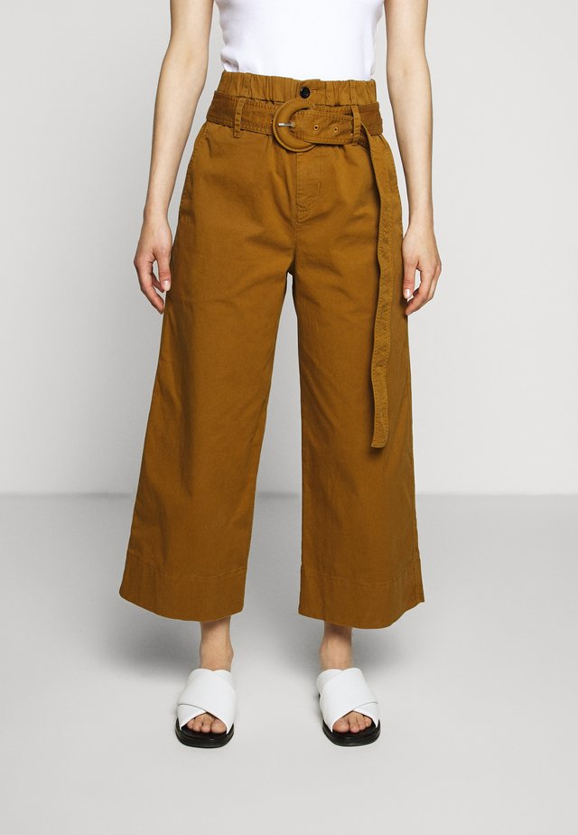 PAPER BAG PANT - Stoffhose - fatigue