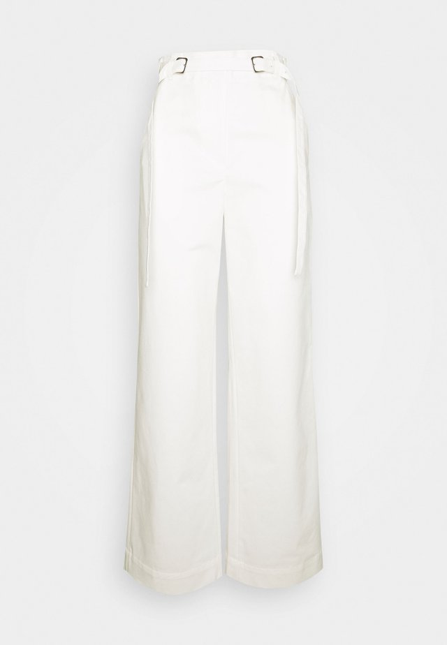 BELTED PANT - Tygbyxor - off-white