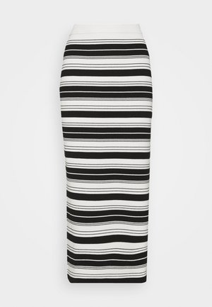 COMPACT STRIPE SKIRT - Bleistiftrock - black/off white