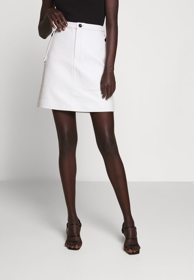 MIDI SKIRT - A-line skirt - off white