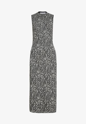 DOT SLEEVELESS DRESS - Shift dress - black/ecru