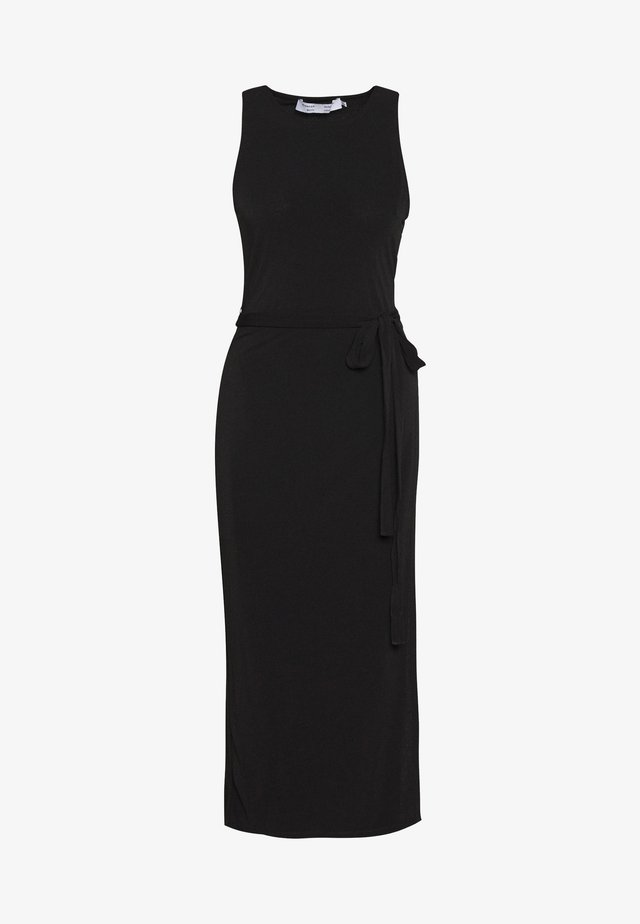 MATTE WRAP DRESS - Jerseyjurk - black