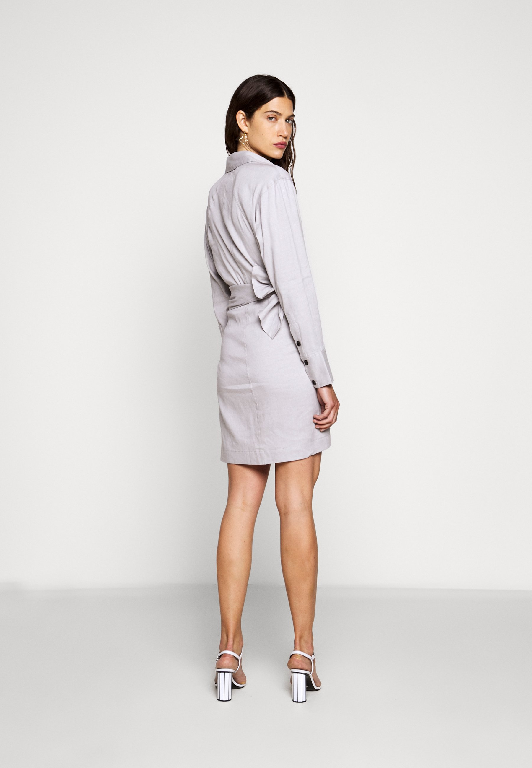 Proenza Schouler BLEND LONG SLEEVE WRAP DRESS Robe chemise