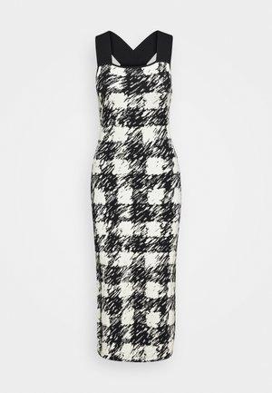 GINGHAM DRESS - Jumper dress - black/cream