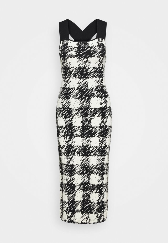 GINGHAM DRESS - Robe pull - black/cream
