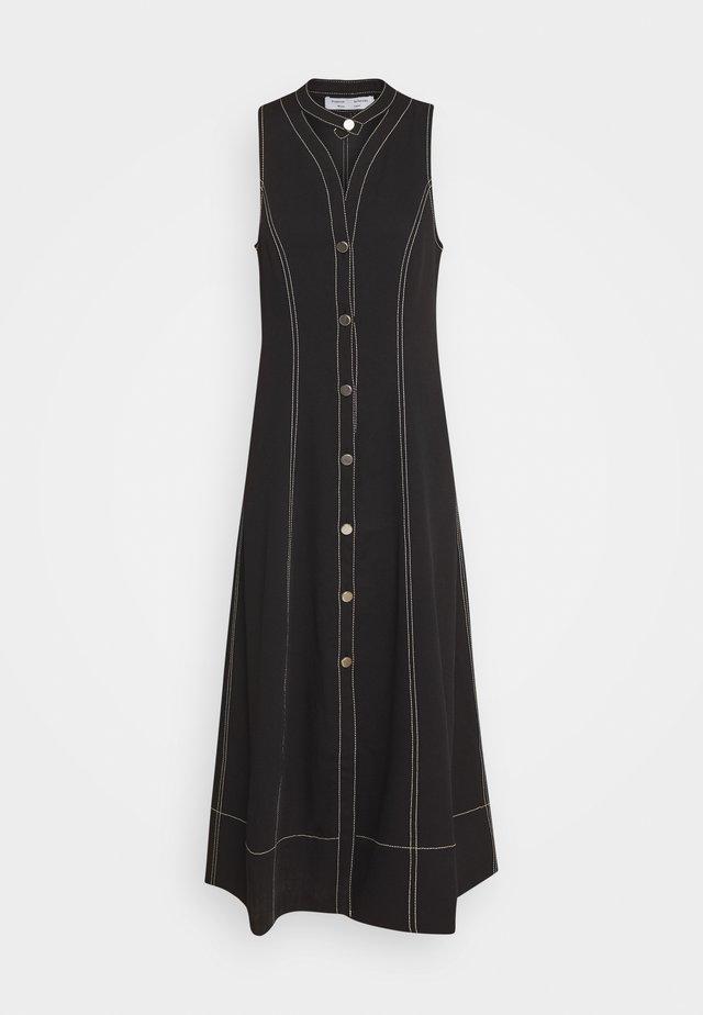 RUMPLED BUTTON FRONT DRESS - Blusenkleid - black