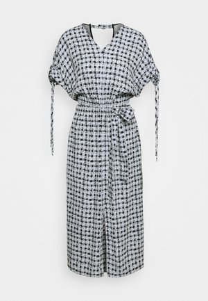 PRINTED GEORGETTE CUT OUT DRESS - Freizeitkleid - light blue/black