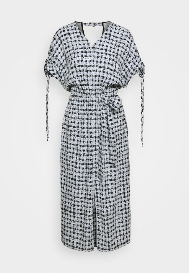PRINTED GEORGETTE CUT OUT DRESS - Vardagsklänning - light blue/black