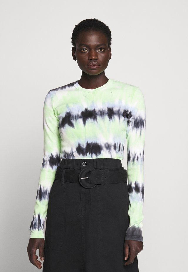 TIE DYE TEE - Long sleeved top - black/celery