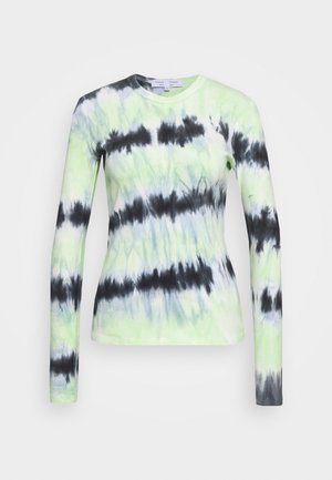 TIE DYE TEE - Maglietta a manica lunga - black/celery