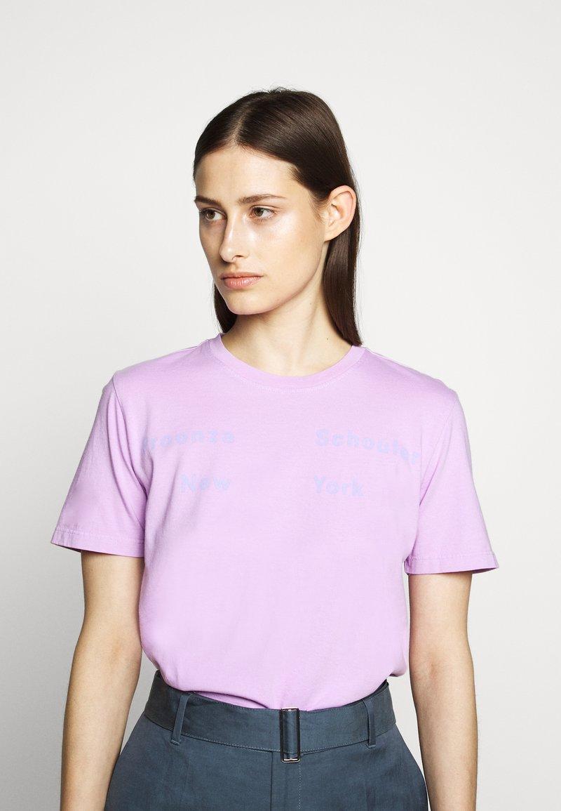 Proenza Schouler - SHORT SLEEVE - T-shirts med print - mauve/lilac