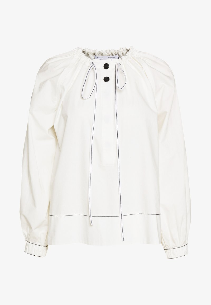 Proenza Schouler - PRINTED GEORGETTE LONG SLEEVE TIE NECK BLOUSE - Camicetta - off white
