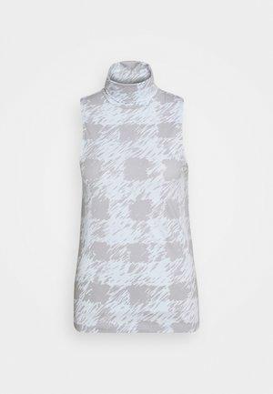 MOCK NECK TANK - Top - grey/light blue