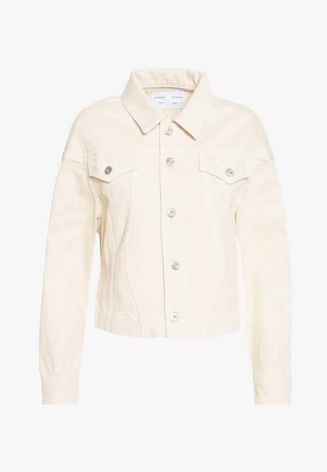CINCHED JACKET - Denim jacket - sand