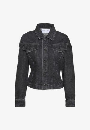 CINCHED JACKET - Džínová bunda - rinsed black