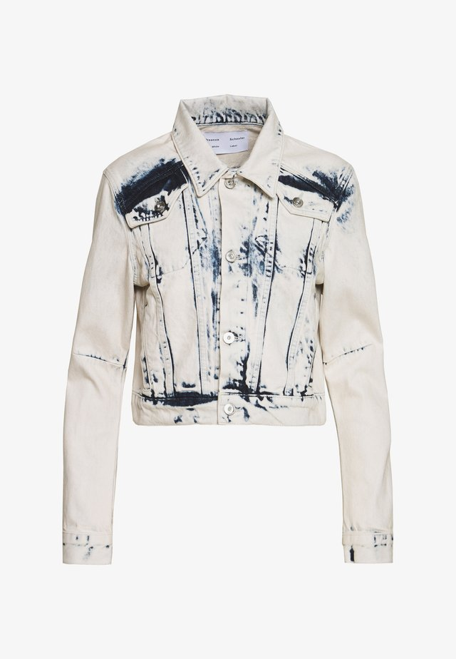 CROPPED JACKET - Kurtka jeansowa - bleach out