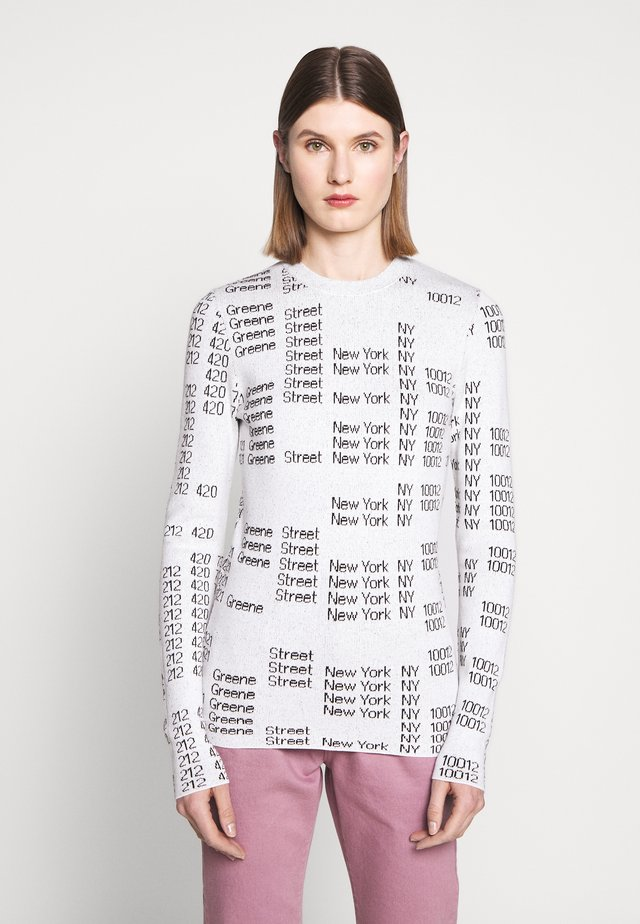 TEXT CREW - Strickpullover - white/black