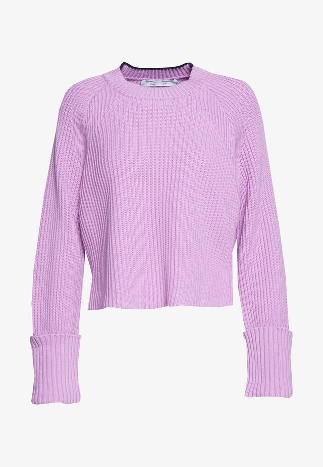 CROPPED - Svetr - mauve/navy/off white