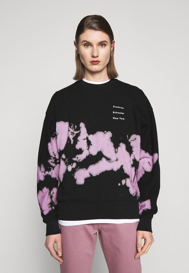 LONG SLEEVE LOGO - Sweatshirt - lilac/black marble