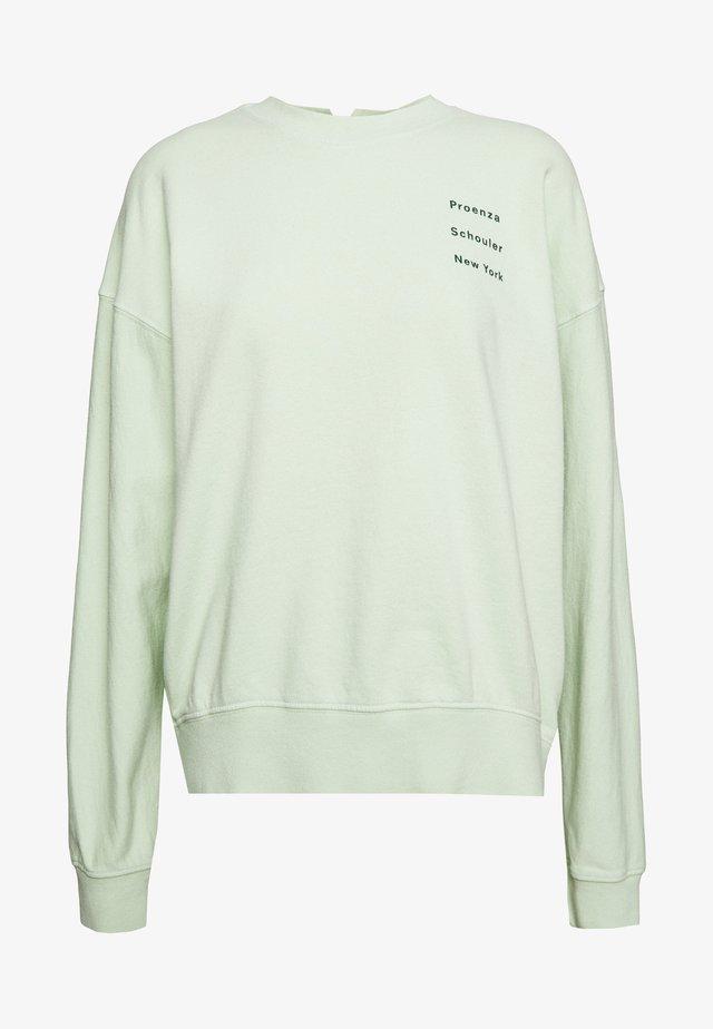 LONG SLEEVE LOGO - Sweatshirt - pistachio/pine