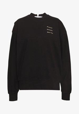 LONG SLEEVE LOGO - Sweatshirt - black/peach