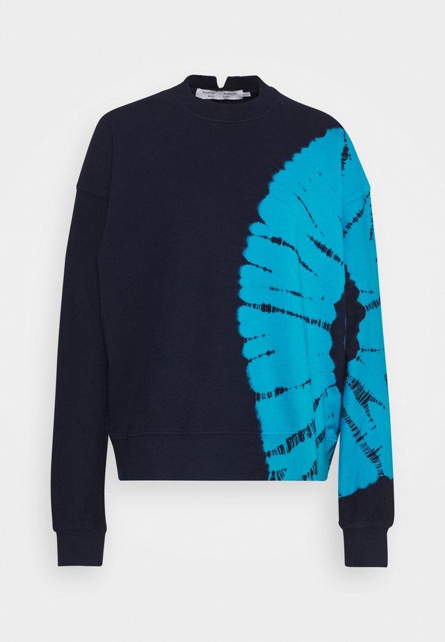 LONG SLEEVE - Sweatshirt - navy/teal tie dye