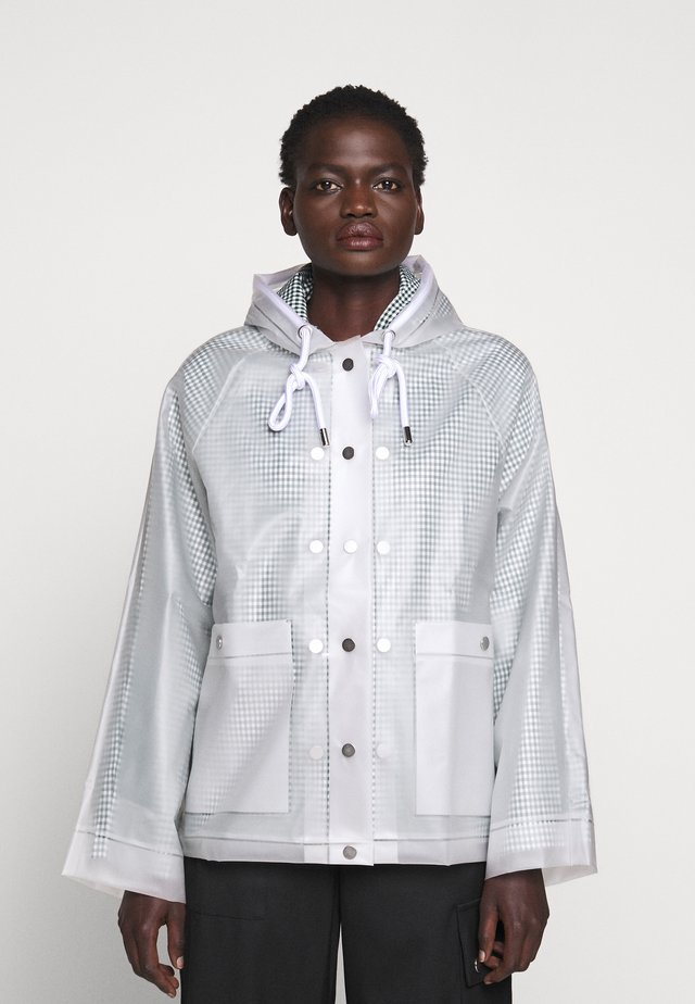 SHORT LINED RAINCOAT - Waterproof jacket - milky white
