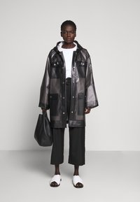Proenza Schouler - BELTED WITH STRIPED LINING - Parka - dark grey - 1