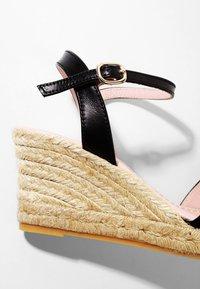 Pretty Ballerinas - Sandaletter med kilklack - black - 6