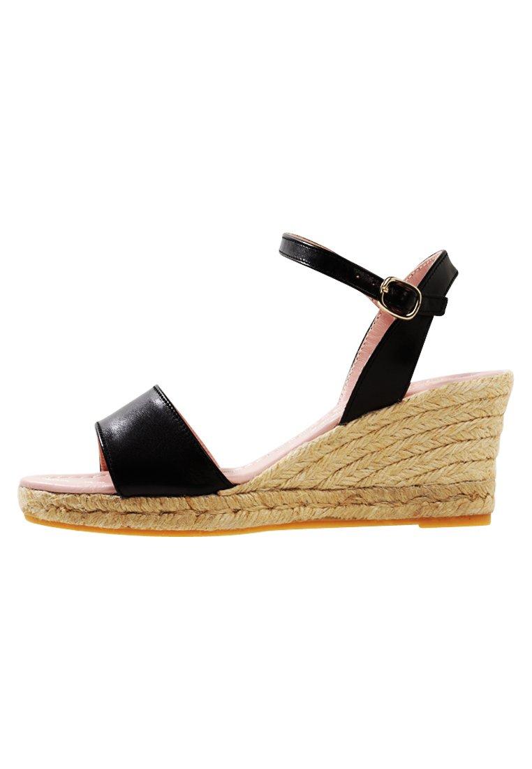 Sandaletter med kilklack black