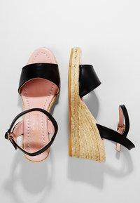 Pretty Ballerinas - Sandaletter med kilklack - black - 2