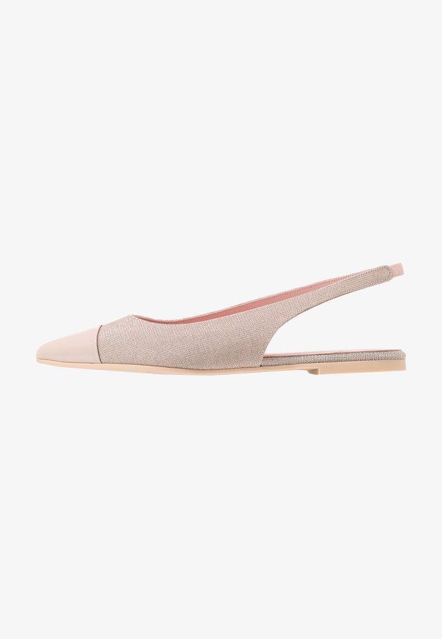 SHADE - Ballerinaskor med slingback - rose/nude/coco