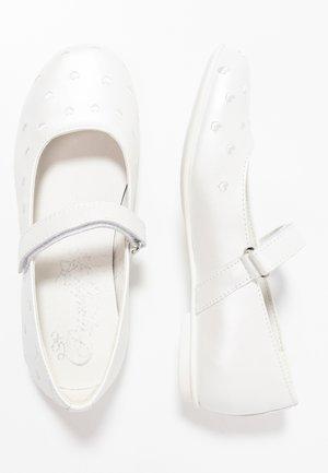 Baleríny s páskem - bianco