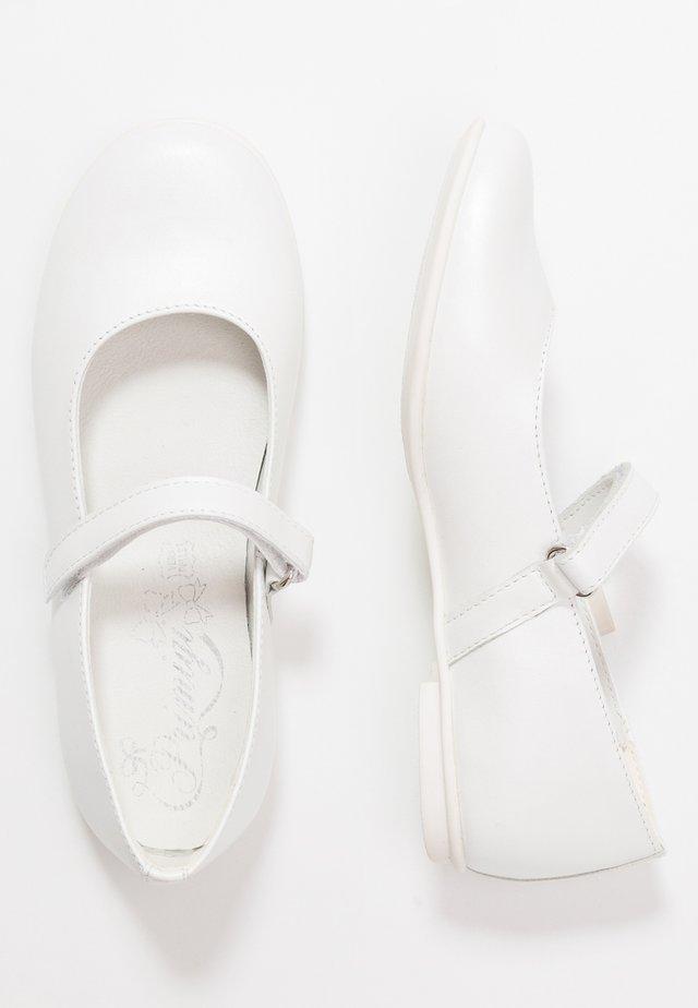 Ballerinaskor med remmar - bianco